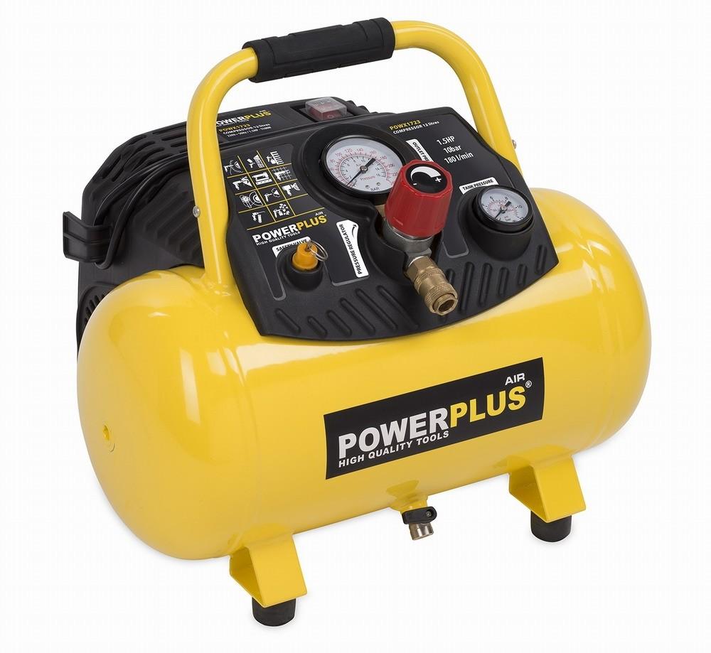 Kompresor POWERPLUS 1100W, 180l/min. POWX1723