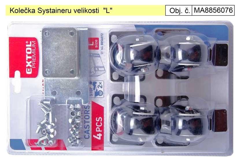 """Kolečka Systaineru EXTOL velikosti """"L"""" 8856076"""