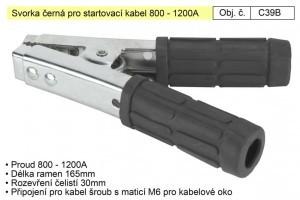 Svorka pro startovací kabel 800-1200A černá C39B