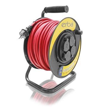 Prodlužovací kabel ERBA 50m, na cívce 4x zásuvka ER-11054