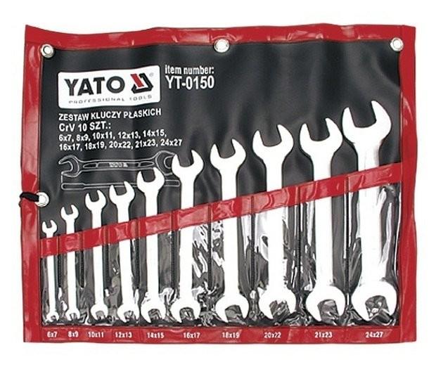 Klíče stranové YATO zesílené sada 10ks, 6-27mm YT-0150