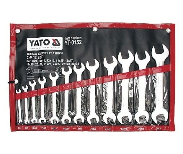 Klíče stranové YATO zesílené sada 12ks, 6-32mm YT-0152