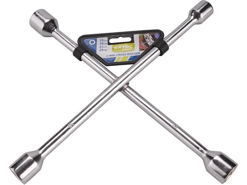 Klíč křížový EXTOL na kola 17x19x21x23mm 6650