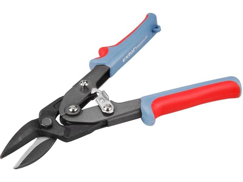 Nůžky na plech EXTOL převodové délka 255mm, rovně a doprava CrV