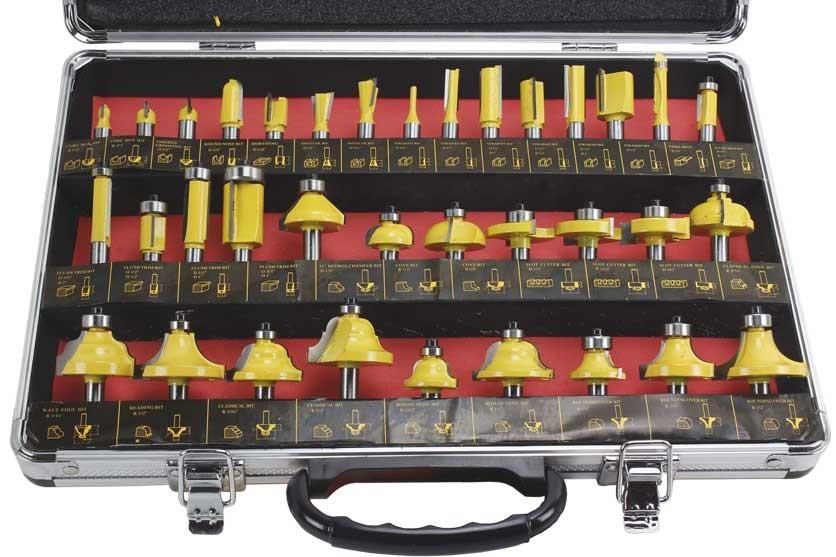 Frézy stopkové MAR-POL sada 35ks se stopkou 8mm M22550