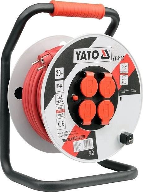 Prodlužovací kabel YATO 40m plast buben YT-8107