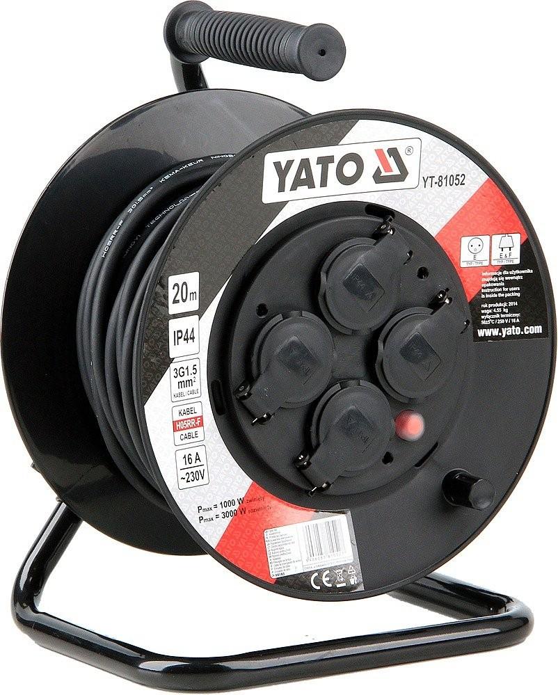 Prodlužovací kabel YATO 20m, 4 zásuvky IP44 16A YT-81052