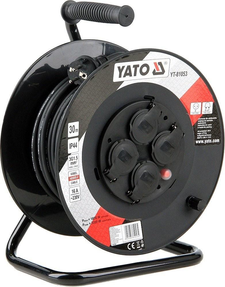 Prodlužovací kabel YATO 30m 4 zásuvky IP44 16A YT-81053