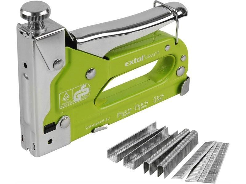 Sponkovačka EXTOL Craft pro spony i hřebíky 6-14mm 9176