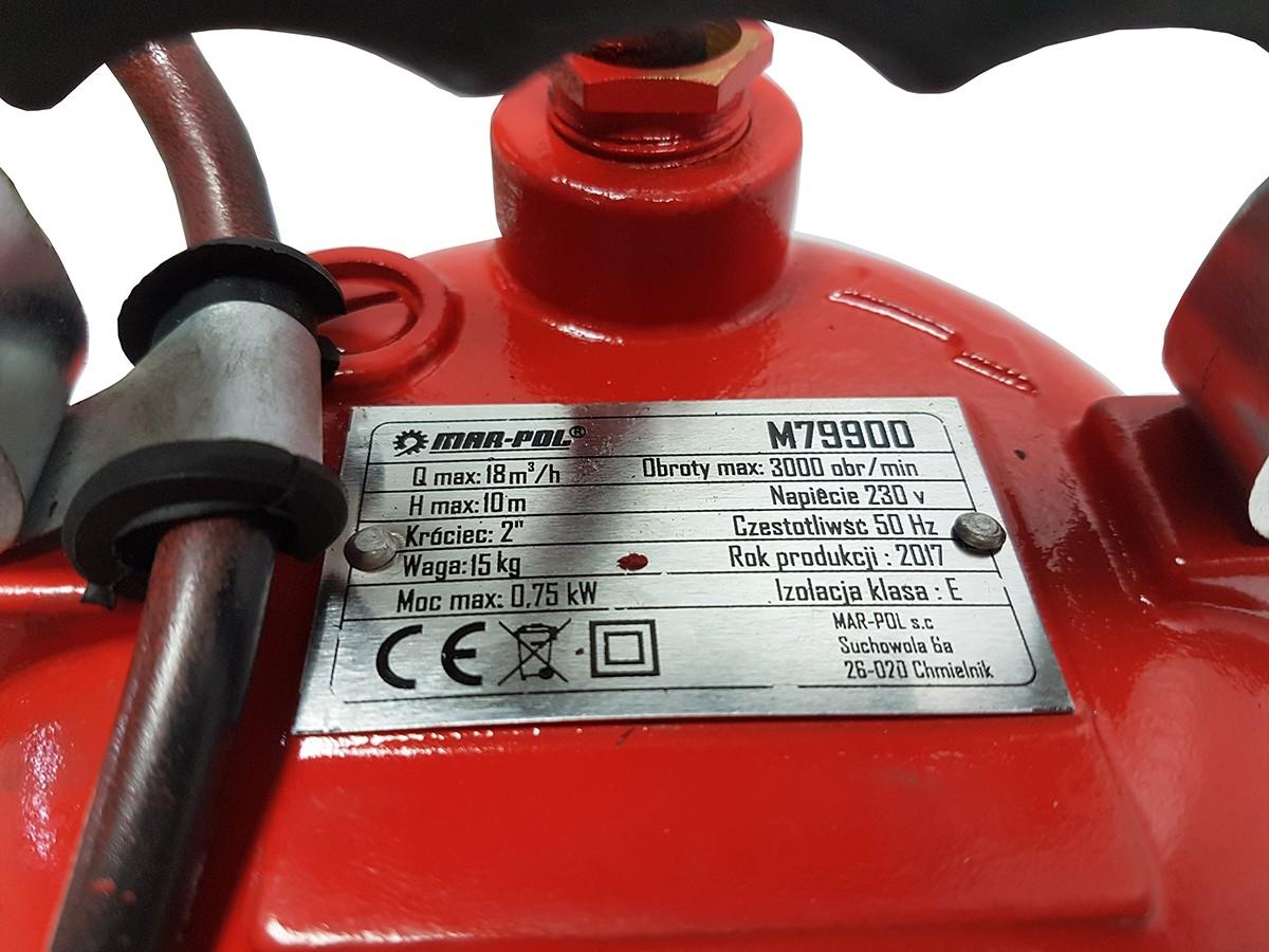 24f0062487 Ponorné čerpadlo MAR-POL 750W