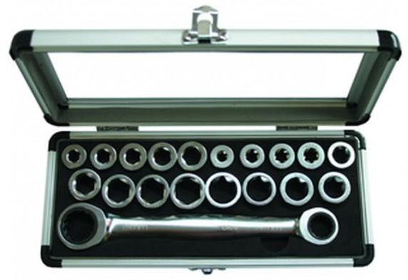 Ráčnové klíče GOLA sada 19ks, 8-17mm 620019