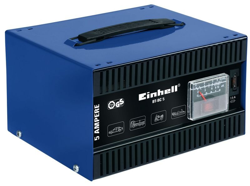 Nabíječka baterií EINHELL 12V, 5A BT-BC 5 Blue