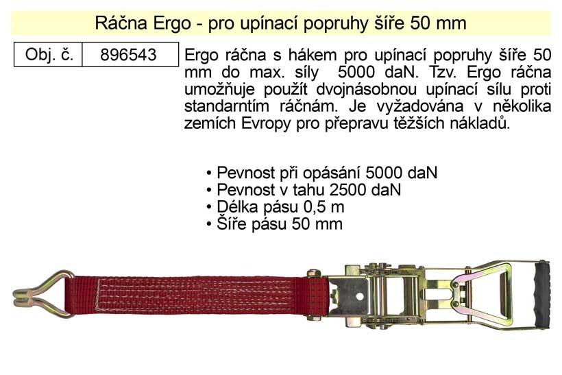 Ráčna Ergo pro upínací popruhy ERGO šíře 50mm 896543