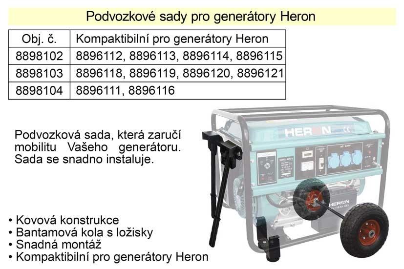 Podvozek pro generátory HERON 8896112, 8896113, 8896114, 8896115