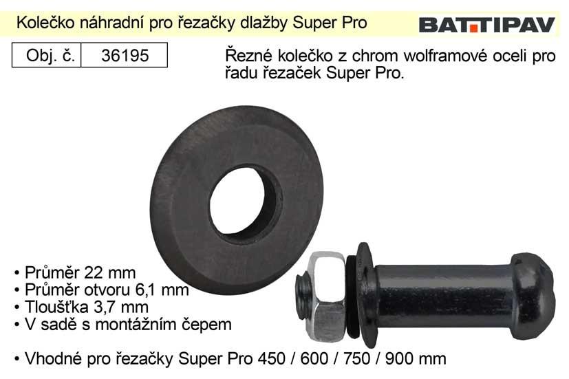 Kolečko náhradní pro řezačky dlažby Super Pro 36195