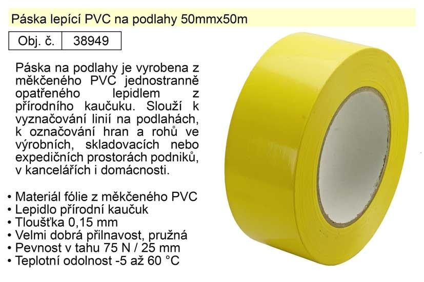 Lepicí páska na podlahy 50mmx50m PVC 38949