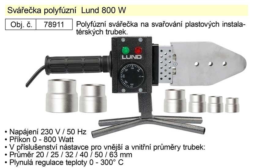 Polyfúzní svářečka LUND 800W 78911