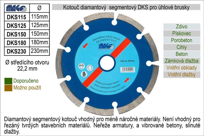 Diamantový kotouč segmentový MAGG 125mm DKS125