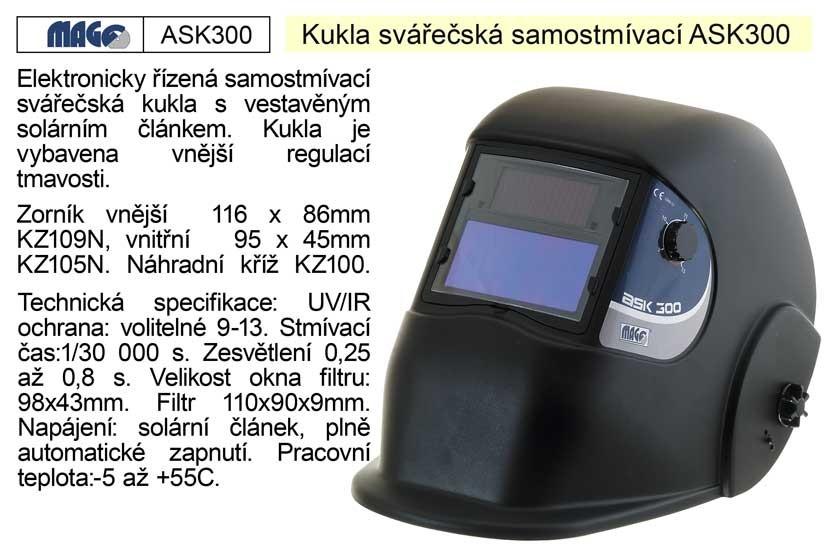 Kukla svářečská MAGG samostmívací ASK300