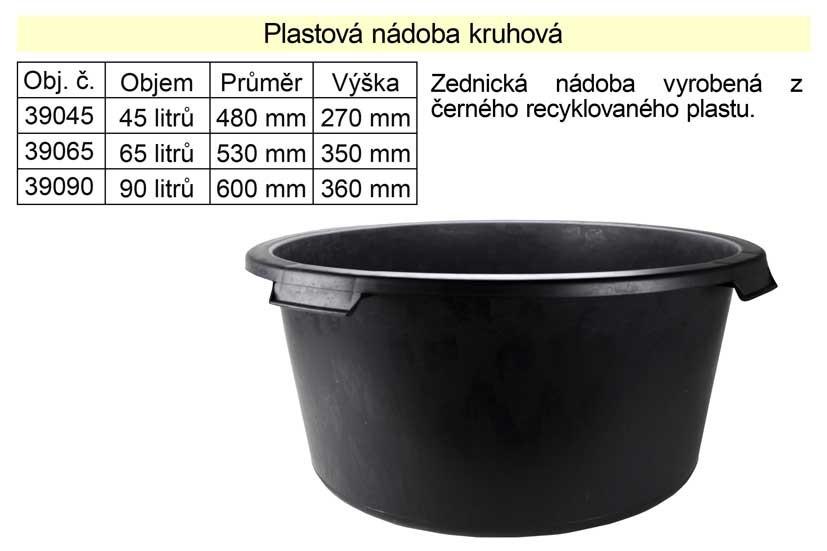 Maltovník plastový kruhový 90L 39090