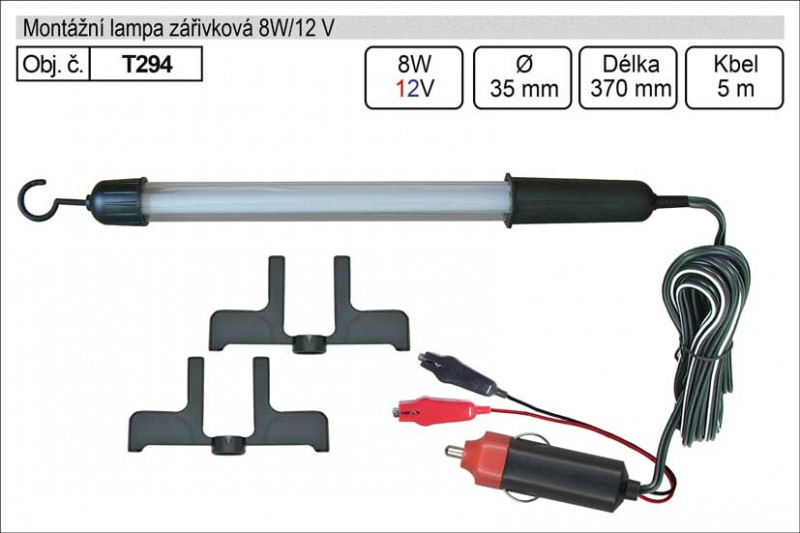 Montážní lampa HADEX zářivková 8W/12 V T294
