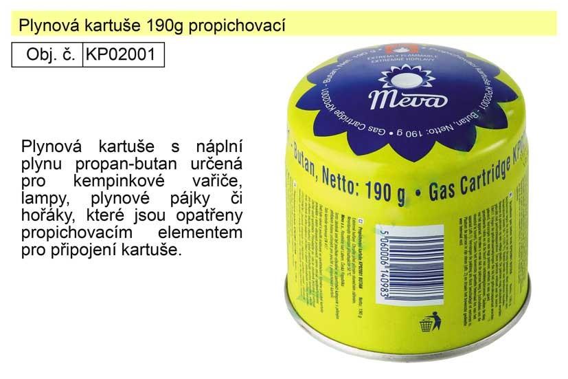 Plynová kartuše 190g propichovací KP02001