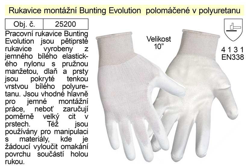 Pracovní rukavice polomáčené v polyuretanu Bunting Evolution vel