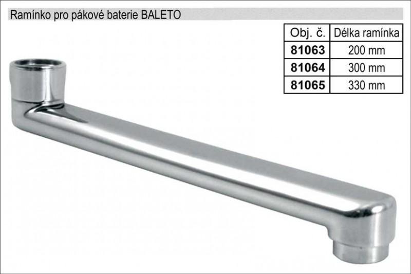 Ramínko pro pákové baterie rovné délka 200mm chromované 81063