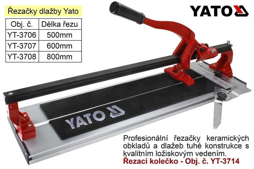 Řezačka obkladů a dlažeb YATO 500mm YT-3706