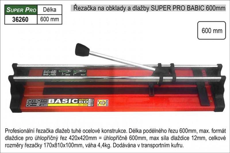 Řezačka na obklady a dlažby SUPER PRO S BASIC 600mm v kufru 362