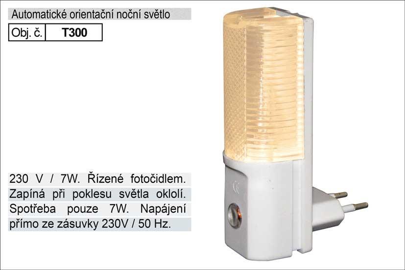 Světlo do zásuvky s fotočidlem 230V/7W T300