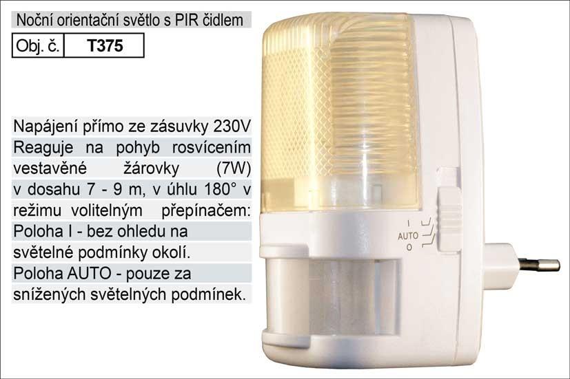 Světlo do zásuvky HADEX s pohybovým čidlem 230V/7W T375