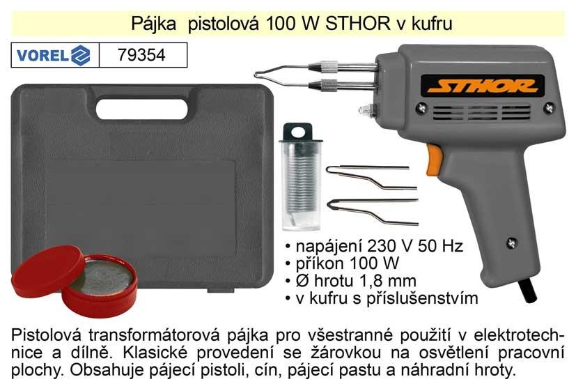 Pájka pistolová VOREL 100W Sthor 79354