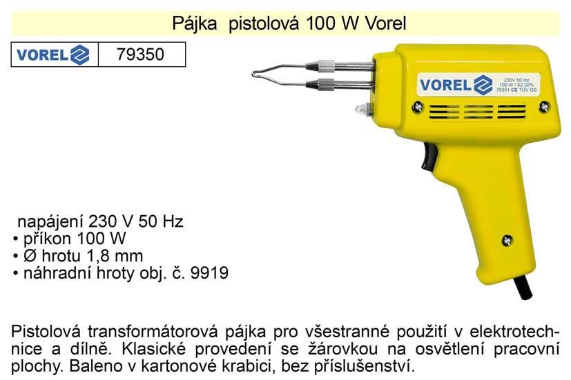 Pájka pistolová VOREL 100W 79350