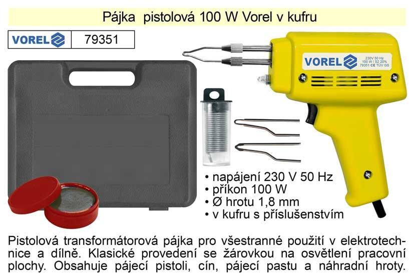 Pájka pistolová VOREL 100 W 79351