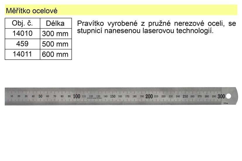 Pravítko ocelové EXTOL 50cm 459