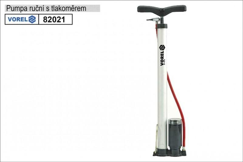 Pumpa ruční VOREL s tlakoměrem 82021