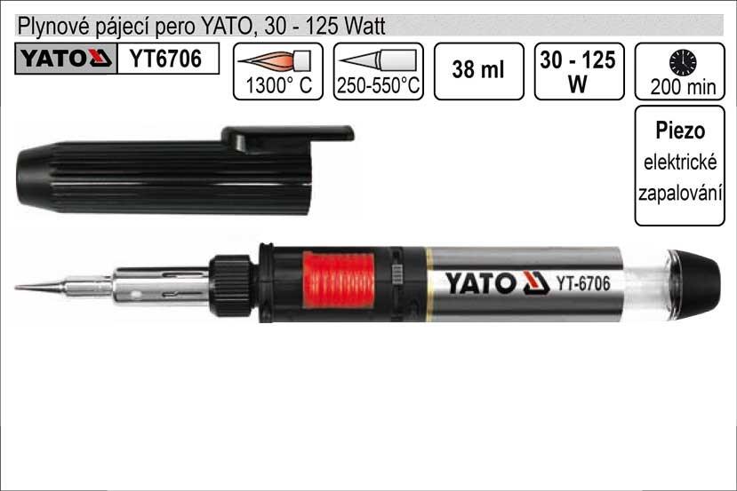 Pájecí pero YATO plynové YT-6706