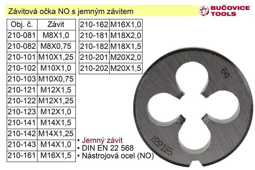 Závitové očko M12x1,25 NO jemný závit 210-122