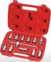 12-ti dílná sada nástrčných klíčů na zátky olejových van AIP4177