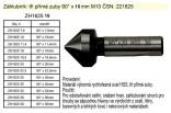 Záhlubník tři přímé zuby 90° x 16mm ČSN: 221625 ZH1625 16