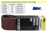 Brusný pás pro pásové brusky MAGG 75x533mm Z40 sada 3ks 020005