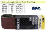 Brusný pás pro pásové brusky MAGG 75x533mm Z60 sada 3ks 020006
