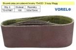 Brusný pás pro pásové brusky VOREL 75x533 Z100 sada 5ks 07667