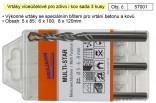 Vrtáky víceúčelové pro zdivo i kov sada 3ks 57001