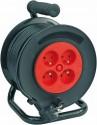 Prodlužovací kabel VOREL 40m, 4 zásuvky typ E buben 82684