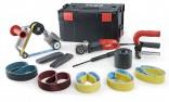 Saténovací bruska a pásová bruska FLEX 1400W na broušení trubek BSE 14-3 INOX Set 433.454
