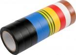 Izolační pásky elektrikářské VOREL PVC 15mmx10m barevné balení 10ks  75012