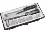 Kleště nýtovací EXTOL 255mm se sadou nýtů v kufříku  7532
