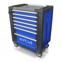 Dílenský vozík ERBA 7 uzamykatelných zásuvek bez nářadí ER-14221